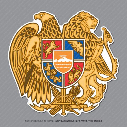 Armenian Coat of Arms Sticker Decal Self Adhesive Vinyl Armenia Flag - SKU2906