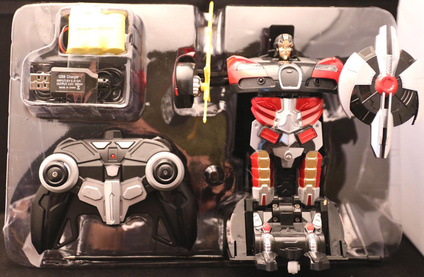 Ferngesteuert  Transformers   Farbe red black  8+  OVP   vom Roboter zum Auto