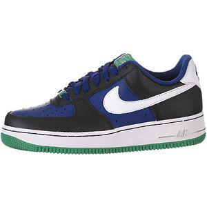 Details about 314192 415 Kids Nike Air Force 1 Low (GS) BlackRoyalGreenWhite Size 4 7 NIB