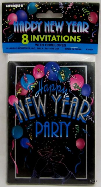 happy new year invitations with envelopes 8 ct years party invitation cards