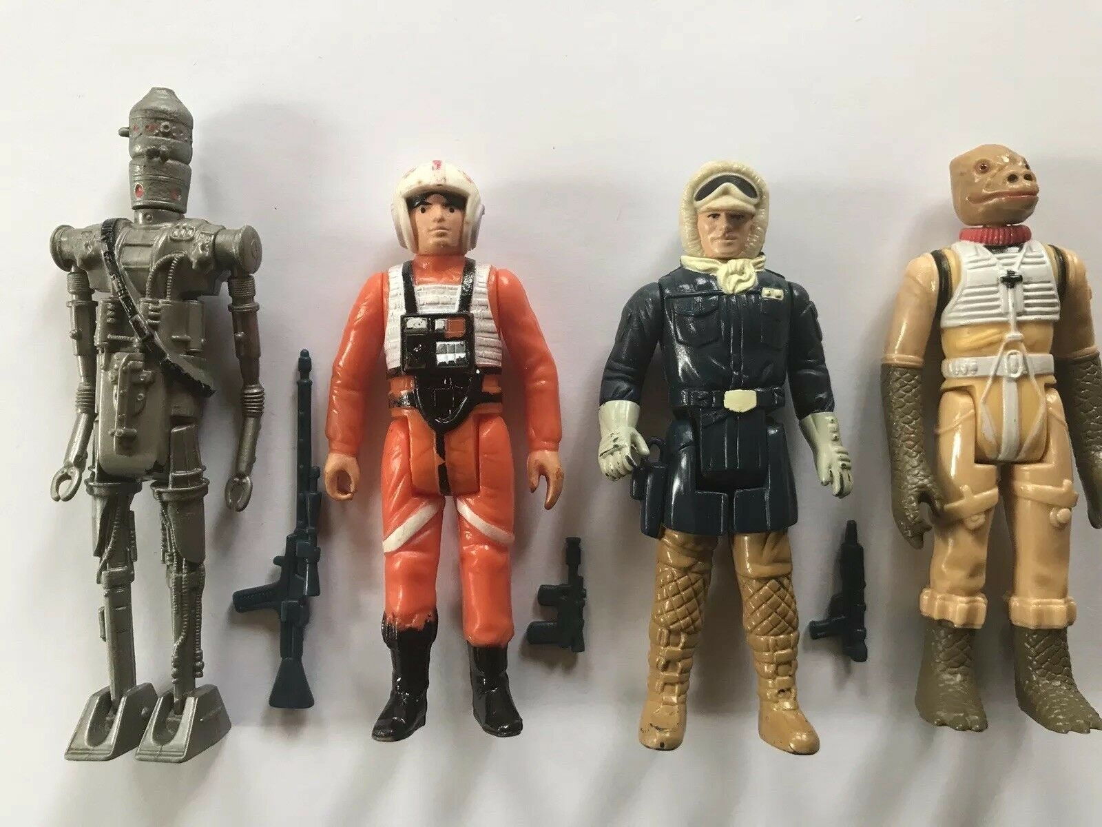 Star Wars Kenner vintage Action Figures- 1978 80 w  original weapons. Luke, Han.