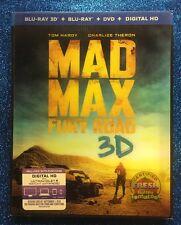 Mad Max: Fury Road 3D (Blu-ray 3D/Blu-ray/DVD/Digital HD, 2015) NEW w/ Slipcover