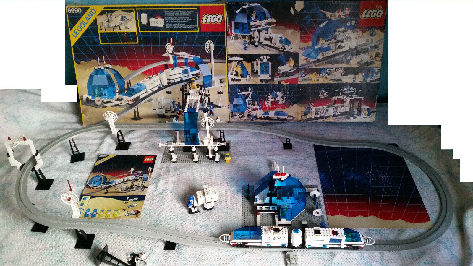 Lego 6990 Rare Space Monorail 9V 1987 Working 99% Complete