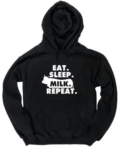 Eat Sleep Milk Repeat unisex Hoodie hooded top christmas gift popular fashion