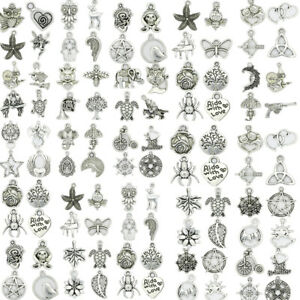 Hot-Fashion-Antique-Silver-Beautiful-Charms-Pendant-Carfts-DIY-Jewelry-Making-J
