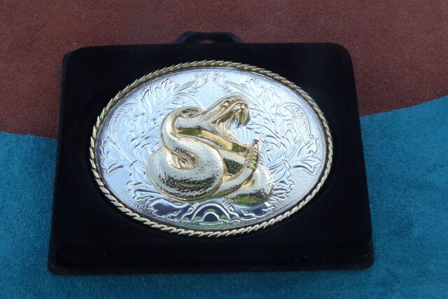 Buckle Rattlesnake Rattle Snake Belt Buckle