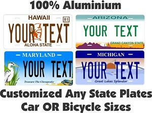 "MARYLAND custom novelty bicycle mini license plate name or text 4/""x9/"""