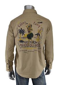 Sur Militaire Détails Lauren Hula Neuf Hawaïenne Chemise Lucky Fille Ralph Polo Lucy Ajc35LqS4R