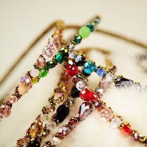 Women-Girls-Bling-Rhinestone-Crystal-Headband-Hair-Band-Head-Piece-Chain-Jewelry