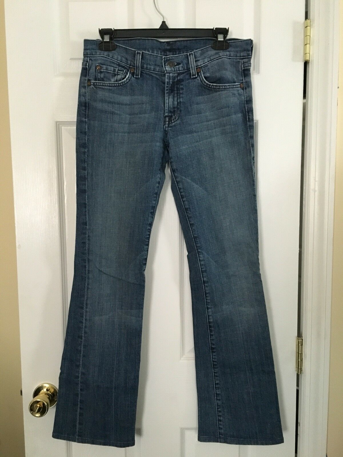 7 for all mankind womens bootcut jeans, size 28, preowned