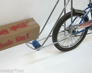 New-034-WHEELIE-KING-034-Bicycle-Show-Bar-w-BLUE-Wheels-for-Banana-Muscle-Bike