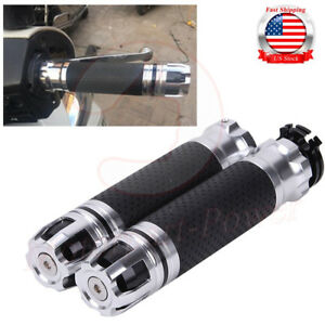 """Left /& Right 7//8/"""" Handle Bar Hand Grips With Throttle Twist Fit Honda Yamaha"""