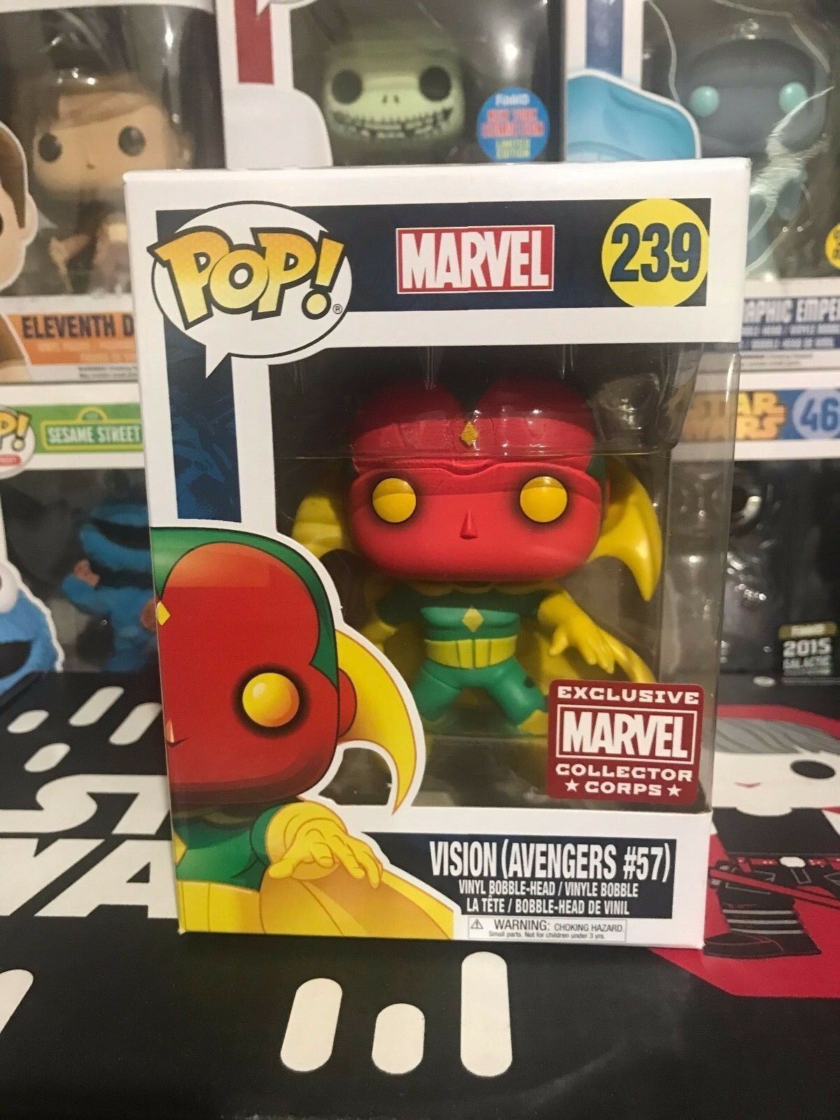MARVEL COLLECTOR CORPS FIRST APPEARANCE,VISION RON MAN EXCLUSIVE POP VINYL