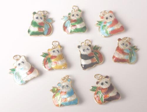 Cloisonne Esmalte mezclado encantos perlas colgantes Panda Oval Pavo Real Tortuga Etc