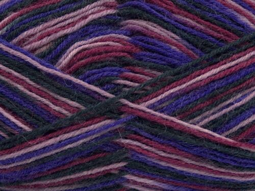 Nylon 218yd 50 Gram Purple Lilac Black Wine Sock Yarn Ice #45333 Superwash Wool