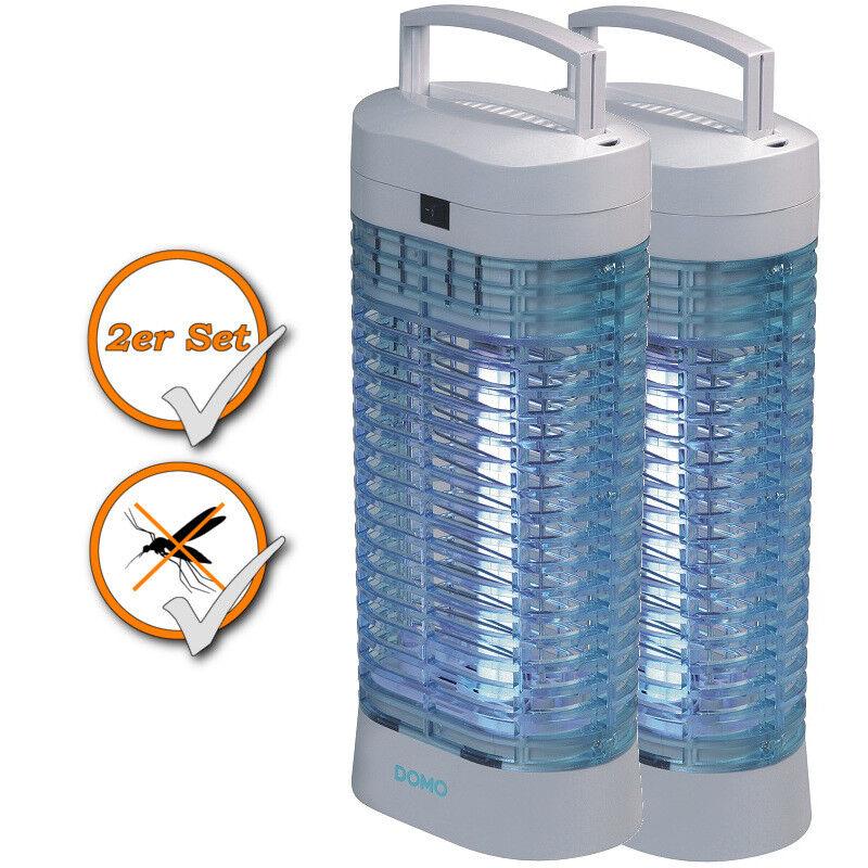 2er Set Insektenvernichter Mückenschutz chemiefrei Insektenkiller Insektenlampe