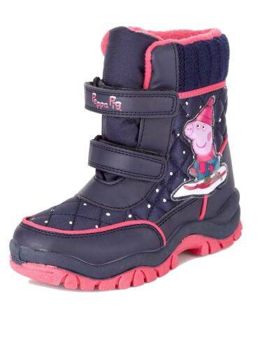 M/&S Girls Peppa Pig Water Proof Thinsulate Snow Boots Child UK 5-6-8-10 BNWT