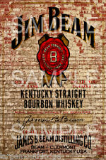WEATHERED LAYOUT GENERAL STORE BUILDING SIGN JIM BEAM DECAL 3X2