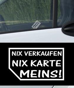 ich nix verkaufen 4x aufkleber sticker sticker bomb nix karte meins auto karten ebay. Black Bedroom Furniture Sets. Home Design Ideas