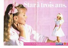 PUBLICITE ADVERTISING 037  1988  Jouets Mattel (2p) poupée  Barbie