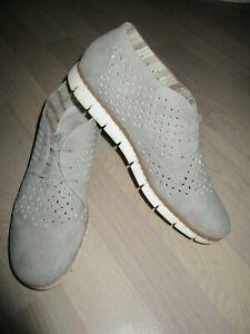 Rieker Damen Comforto Sommer Sneaker Schnürschuh Gr.40 grau HBtgB