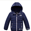 Winter Kids Boys Girls Down Snowsuit Hooded Warm Puffer Coat Outwear Jacket UK
