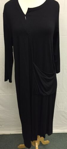 Comfy USA Abstract Crossover Dress Long Sleeve One Pocket Modal Style M382 NEW