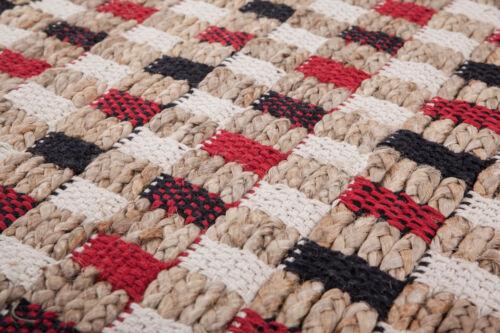 Teppich Modern Kästchen Muster Design Teppiche Rot Beige Blau Schwarz