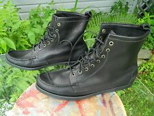 SEBAGO Docksides Hi-Top / Black Leather Uppers / US Men size: 13 M / Used
