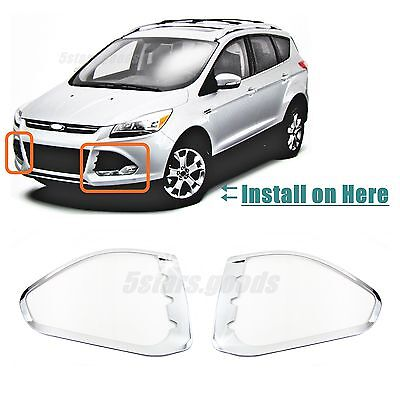 Chrome 2016 Light Trims Accessories SUV Covers Front 2013 For Escape Ford Fog R8d6xCwxnq
