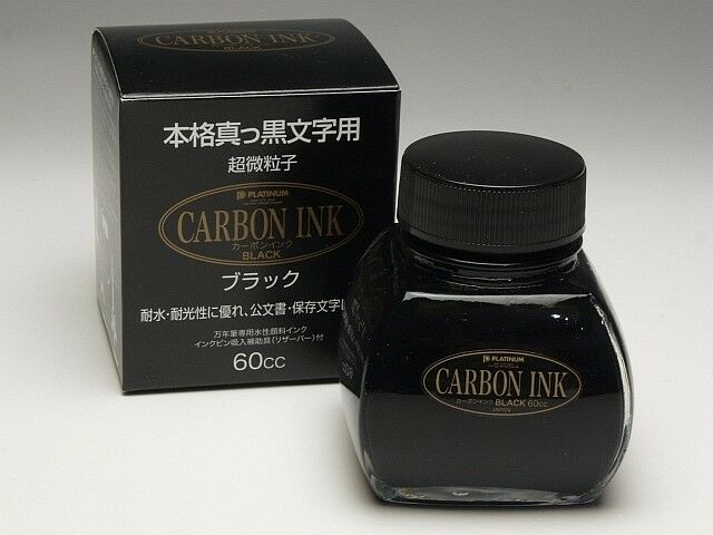 "PLATINUM Bottled Ink ""CARBON INK Black"" 60cc INKC-1500 #1 / Reservoir built-in"