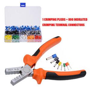 800Pcs-Crimp-Tool-Ferrule-Crimper-Plier-Cable-Wire-Terminal-Connector-Set