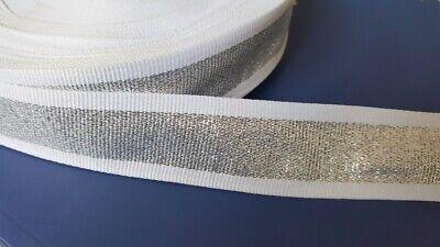 Borte 2112 Enten auf Weiß 22mm Breite Ripsband Webband