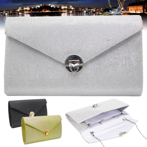 Womens Shoulder Clucth Bag Dazzling Ladies Party Bridal Prom Evening Purse New