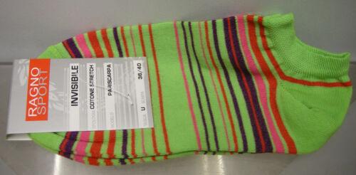 CALZA PARISCARPA DONNA SOCKS RAGNO ART.09087P T.36-40 COL.VERDE RIGHE STRIPED
