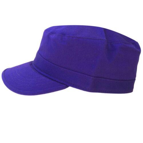 Castro Military Purple 100/% Cotton ARMY Cadet Cap Hat Rasta Rastafari Urban Army