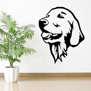 Image Is Loading GOLDEN RETRIEVER DOG WALL ART Vinyl Room Sticker