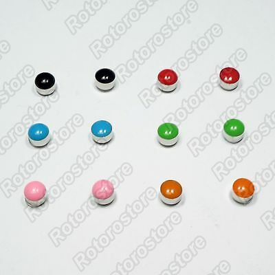 Colour Stone Silver Magnet Stud Earrings - Magnetic Mens Womens Fashion - NEW