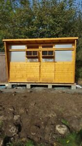 12ft x 6ft Pigeon Loft 2sections with 2 ETS traps