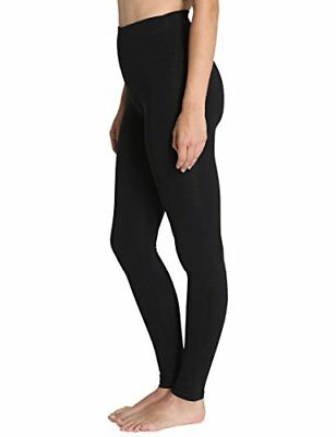 Royaume-Uni Pour Femme Taille Haute Extensible Coton Leggings Pantalons plaine pleine longueur XS-XXXL