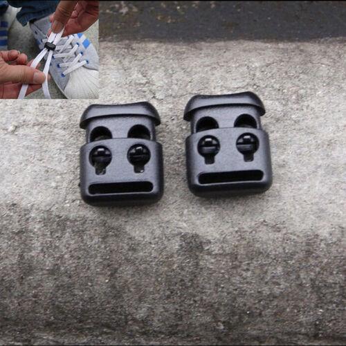 10 JECS Shoelace Buckle Non-slip Survival Stopper Rope Clip Clamp Cord Lock  PM