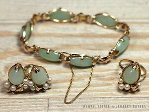 Image Is Loading Ming 039 S Hawaii Jade Pearl 14k Gold