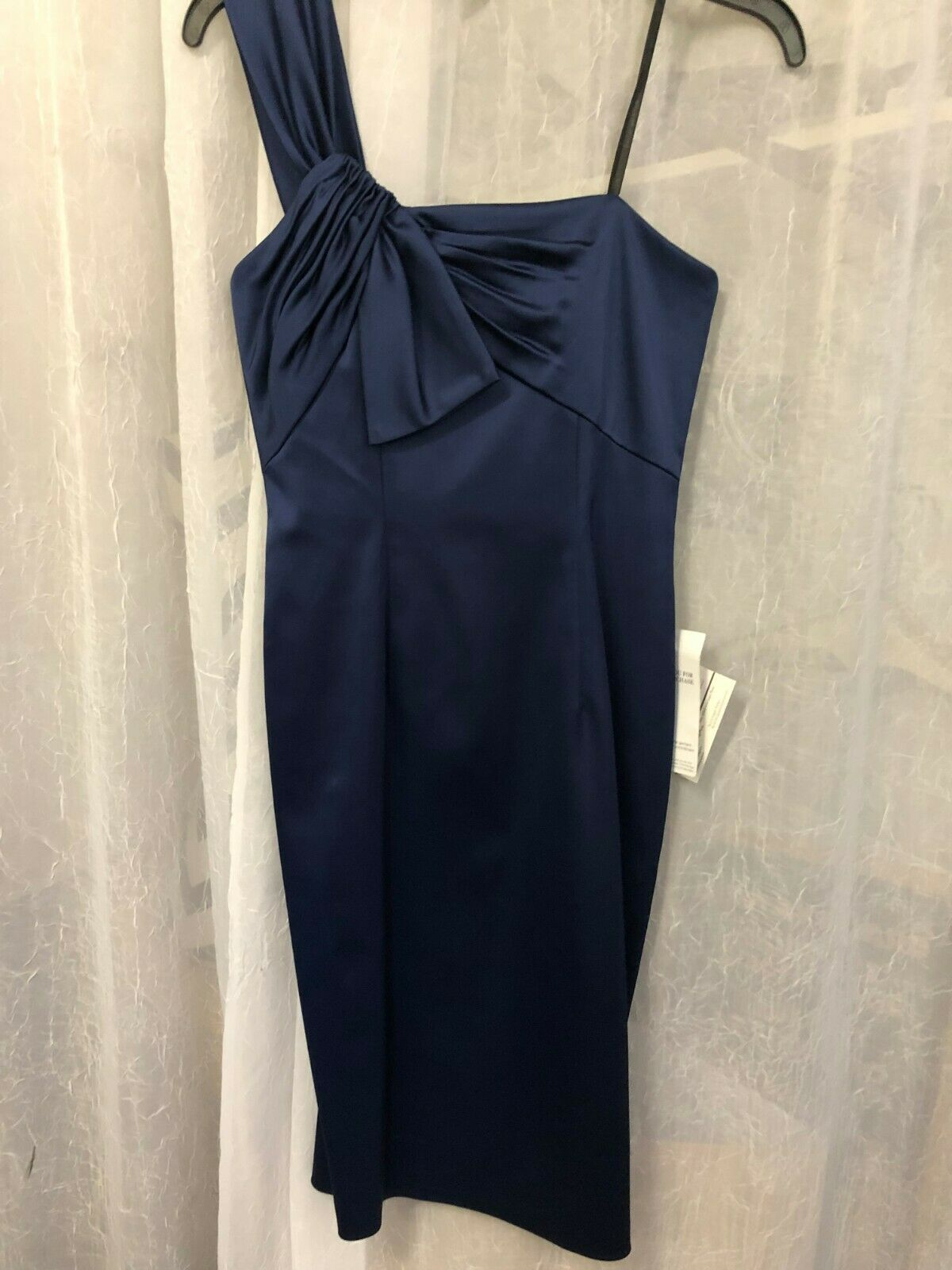 David Meister Women's Navy bluee One Strap Dress Size 2 NWT