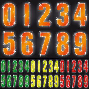 "7/"" Hi Vis Wheelie Bin House Numbers Self Adhesive Stickers Sticky Wheely Sticker"