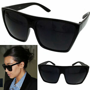 91546249fea Image is loading BLACK-Oversized-Large-XL-Big-Sunglasses-Kim-Square-