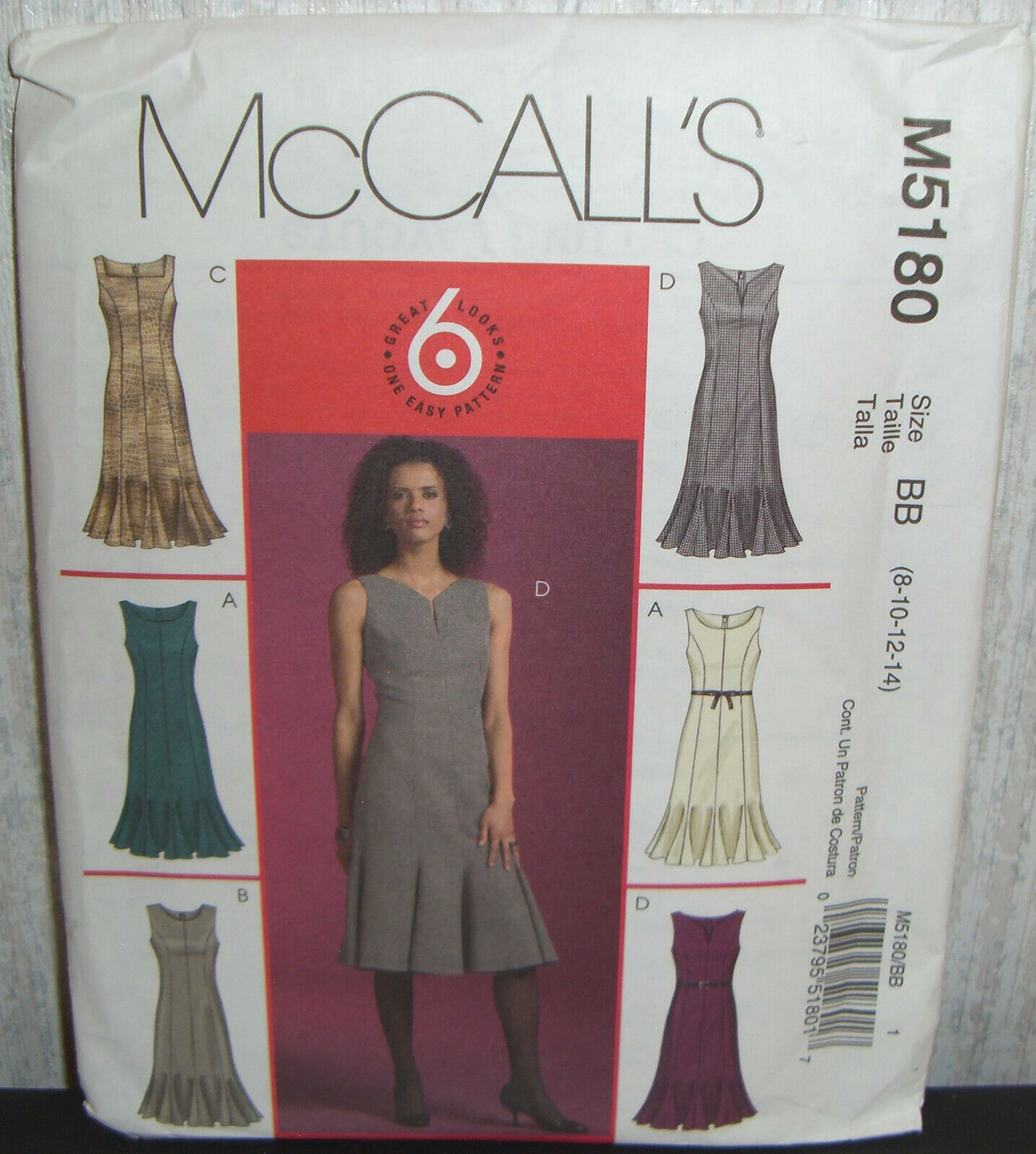 f56fd14d McCalls M5180 Misses Miss Petite Dress Sewing Pattern