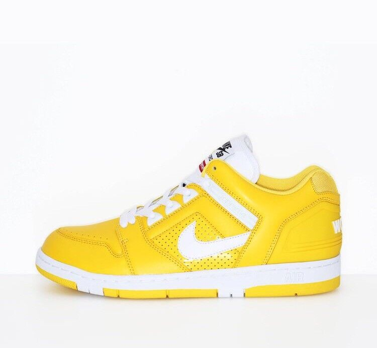 Nike Air  Force 2 X Supreme Yellow Trainers Rare Deadstock