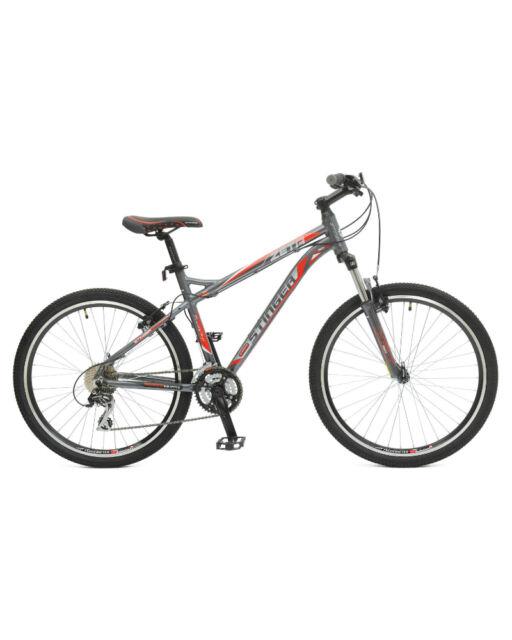"""Велосипед Zeta 26"""" рама 16"""" серо-бело-красный Stinger (Стингер)"""