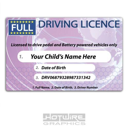Personnalisé Nouveauté Kid/'s permis de conduire Enfants Ride Sur Voitures en plastique PVC