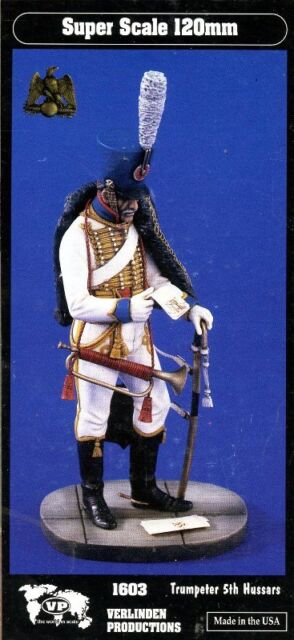 Verlinden Productions 120mm 1:16 Trumpeter 5th Hussars - Resin Figure Kit #1603